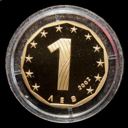 Златен български лев, емисия  2002 г  , пр.999, тегло 15.55 г