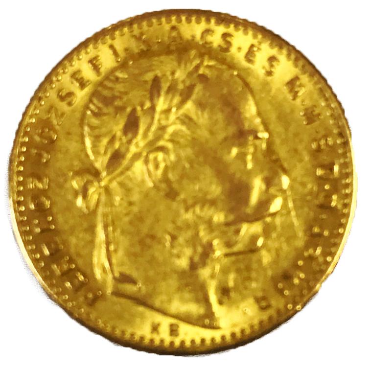 Златна монета Франц Йосиф - 8 Флорина/20 Франка