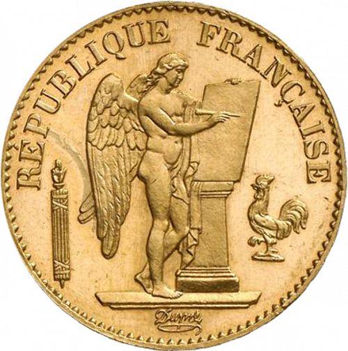 20 френски франка 1887 г -Гений, пр.900