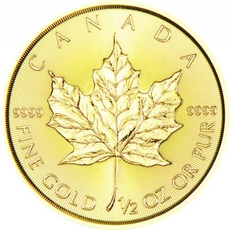 Канадски кленов лист 1/2 тройунция