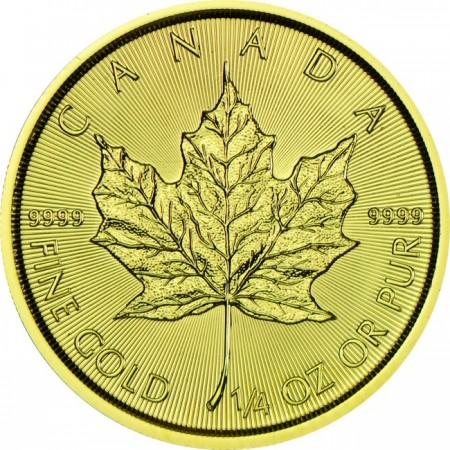 Канадски кленов лист 1/4 тройунция