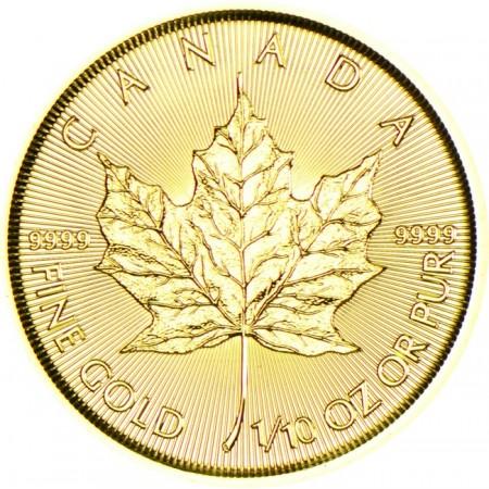 Канадски кленов лист 1/10 тройунция