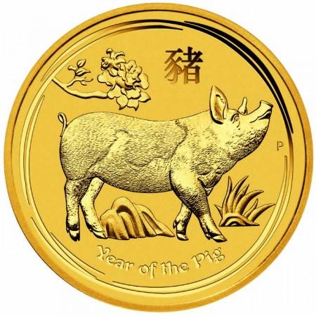 Златна монета Австралийски Лунар 2019- Година на Прасето 1/20 унция
