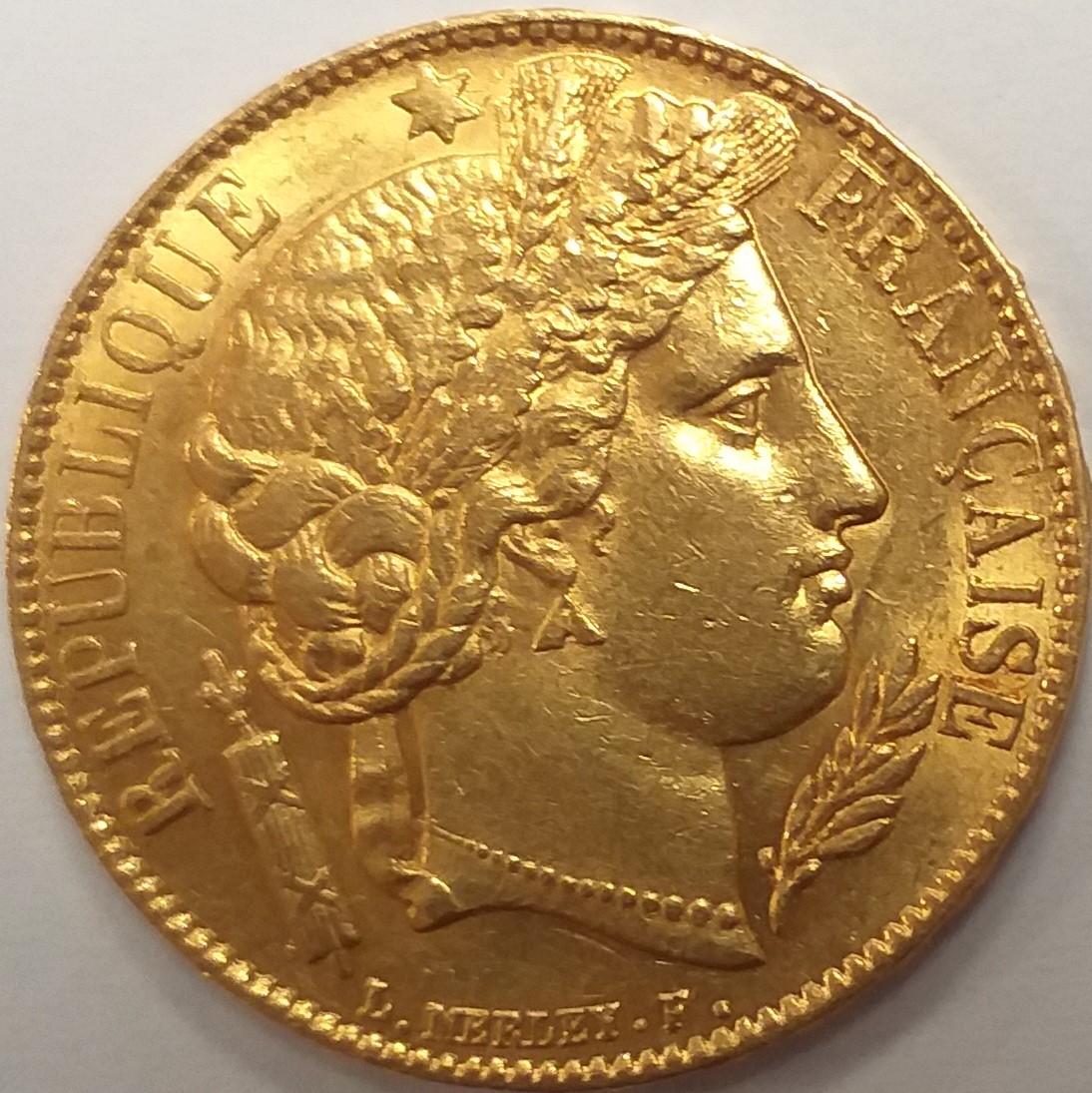 20 френски франка  - Серес, пр.900