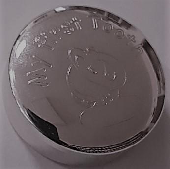 """Сребърна кутия """"Моето първо зъбче"""", пр.925, d-35 mm"""