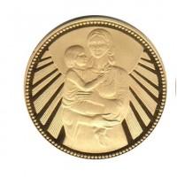 Златна монета 1300 г България - Майка с дете 1000 лв, 1981 г