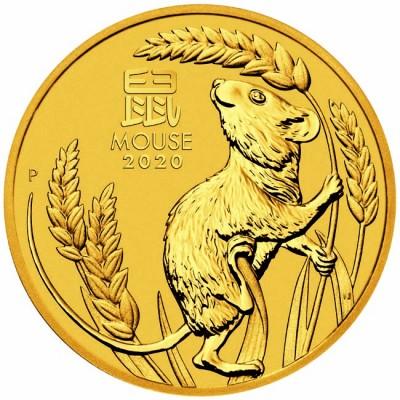 Австралийски Лунар 2020 - Година на Мишката 1/20 унция