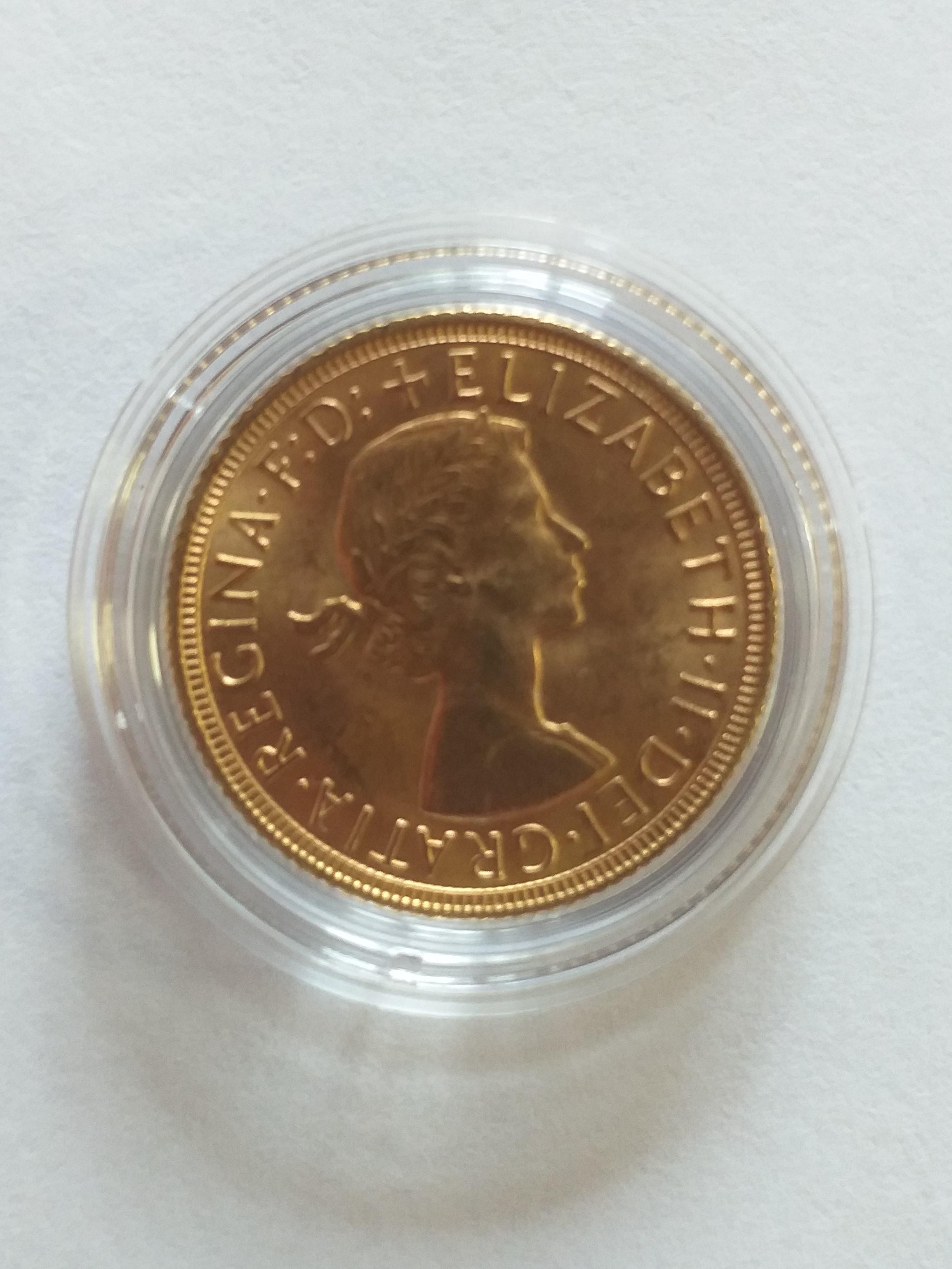 Златна монета 20 белгийски франка, 1958